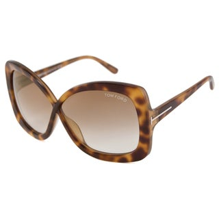 Tom Ford Women's TF0227-53P Calgary Rectangular Sunglasses