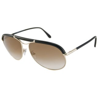 Tom Ford Men's TF0235 Marco Aviator Gold-Black/Brown Gradient Sunglasses