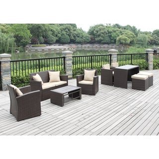 Portfolio Kenyon Valley Cream Wicker 9-piece Indoor/Outdoor Living/ Dining Room Set
