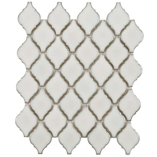 SomerTile 11 x 9.75-inch Casablanca Selene Porcelain Mosaic Tile (Pack of 10)