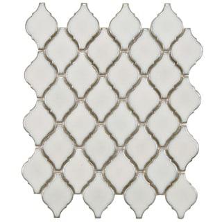 SomerTile 11 x 9.75-inch Casablanca Selene Porcelain Mosaic Tile (Pack of 10)