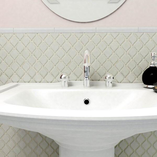 SomerTile 9.75x11-inch Casablanca Selene Porcelain Mosaic Floor and Wall Tile (Case of 10)