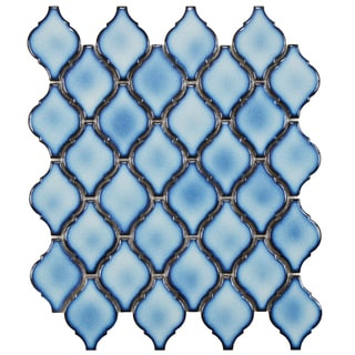 SomerTile 11 x 9.75-inch Casablanca Aella Porcelain Mosaic Tile (Pack of 10)