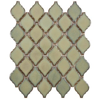 SomerTile 11 x 9.75-inch Casablanca Thalia Porcelain Mosaic Tile (Pack of 10)