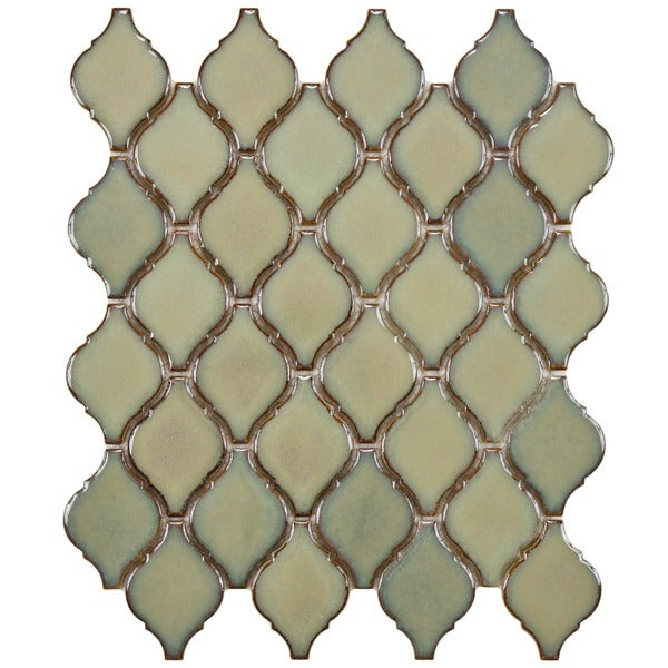 SomerTile 9.75x11-inch Casablanca Thalia Porcelain Mosaic Floor and Wall Tile (Case of 10)
