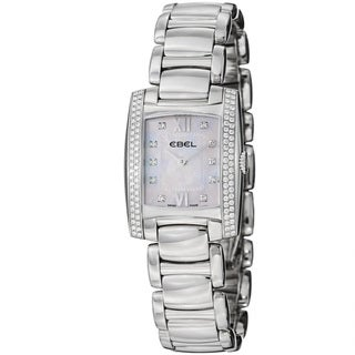 Ebel Women's 'Brasilia' Mother Of Pearl Diamond Dial Steel Watch