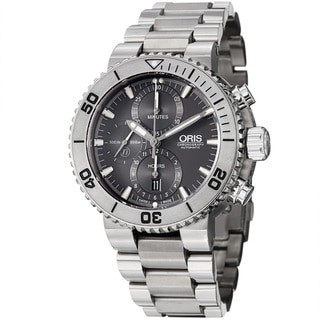 Oris Men's 'Divers' Grey Dial Chronograph Automatic Titanium Watch