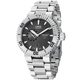 Oris Men's 'TT1 Diver' Grey Dial Titanium Bracelet Automatic Watch