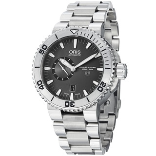 Oris Men's 743 7664 7253 MB 'TT1 Diver' Grey Dial Titanium Bracelet Automatic Watch
