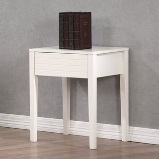 Summit White 1-drawer Nightstand