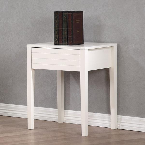 Summit White 1-drawer Nightstand