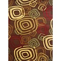 Test Pattern Brown Area Rug (5'2 x 7'6)