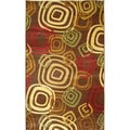 Test Pattern Brown Area Rug (2'7 x 4'11)