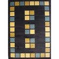 Paver Blue Area Rug (5'2 x 7'6)