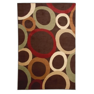 Orbital Brown Area Rug (7'10 x 10'11)