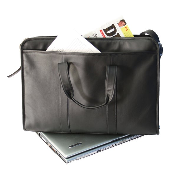Royce Leather Soft Sided 17-inch Laptop Briefcase