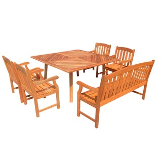 Outdoor Dining Set with Square Table