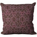 Mina Victory Felt Brown and Purple 20 x 20-inch Decorative Pillow by Nourison