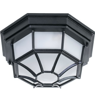 Cast Aluminum Indoor/Outdoor 2-Light Ceiling Mount Fixture
