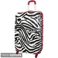 Rockland Zebra 24-inch Lightweight Hardside Spinner Upright Luggage