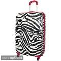 Rockland Designer Zebra 24-inch Lightweight Hardside Spinner Upright Suitcase
