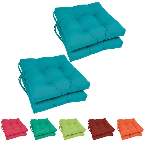 Blazing Needles 16 x 16-inch Square Twill Dining Chair Cushions (Set of 4)