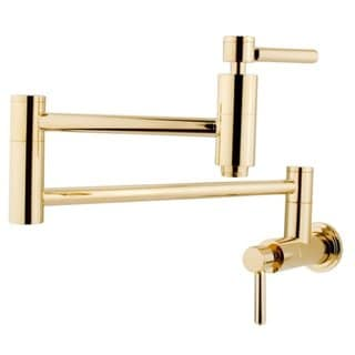Polished Brass Wall Mount Pot-filler Kitchen Faucet