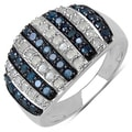 Sterling Silver 4/5ct TDW Blue and White Diamond Ring (I-J, I3)