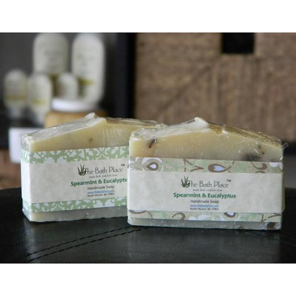 The Bath Place Spearmint and Eucalyptus Essential Oil Soap Duo