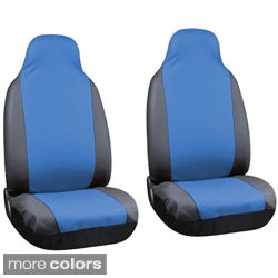 Synthetic Faux PU Leather Integrated High Back Bucket Seat Covers