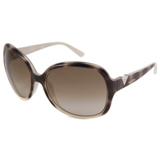 Valentino Women's Havana-Ivory V612S Rectangular Sunglasses