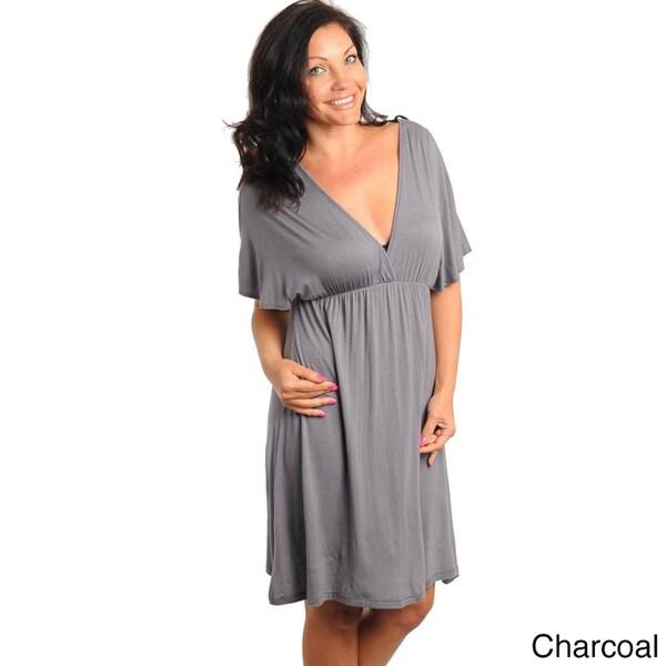 Stanzino Women's Plus Size Dolman Sleeve Casual Dress