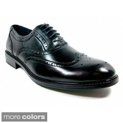 Men's Dark Grey Leather Oxford Shoes B0202