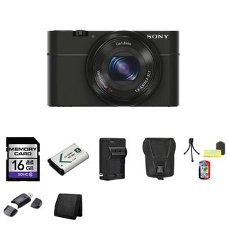 Sony Cyber-shot DSC-RX100 20.2MP Digital Camera with 16GB Bundle