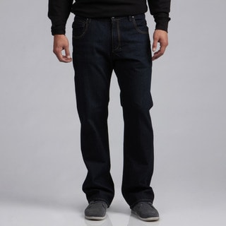 BROKEN ENGLISH Men's Dark Indigo Tinted Fashion Jeans