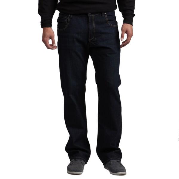 BROKEN ENGLISH Men's Dark Indigo Tinted Fashion Jeans