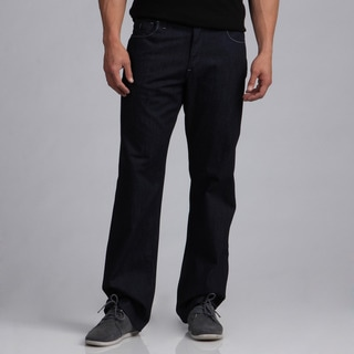 BROKEN ENGLISH Men's Dark Indigo Fashion Jeans
