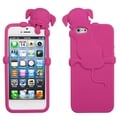 MYBAT Peeking Hot Pink Dog Case for Apple iPhone 5