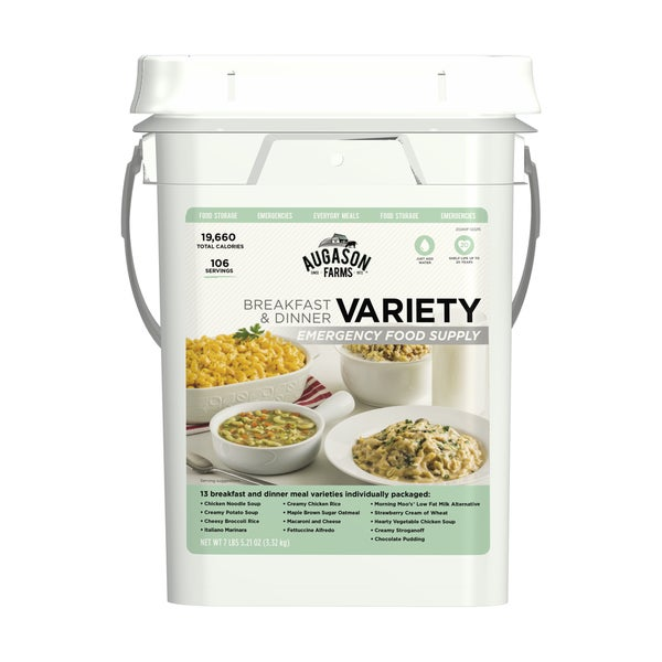 Augason Farms Breakfast and Dinner Variety Emergency Food Supply Pail