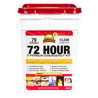 Emergency 72-hour Two Person Pail Food Supply (4 Gallon)