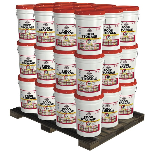 Augason Farms 3-Person 1-Year Emergency Food Storage Kit, 36 Pails