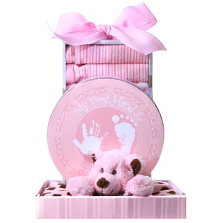 Alder Creek Gift Baskets 'Beary Cuddly Pink' Gift Box