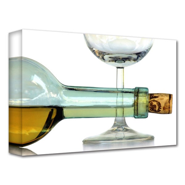 Dan Holm 'Bottle Plus Glass' Gallery-Wrapped Canvas 10955745