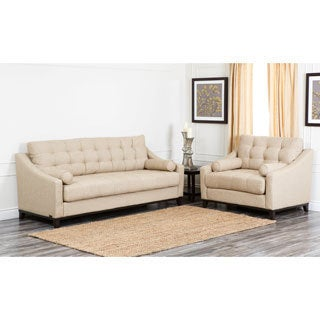Abbyson Living Alexandria Fabric Sofa and Armchair Set