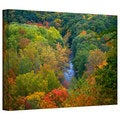 David Liam Kyle 'Autumn Stream' Gallery-Wrapped Canvas