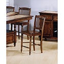 Solid Hardwood Spindle Back 24-inch Counter Height Barstools (Set of 2)