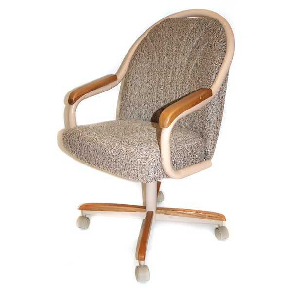 casual dining cushion swivel and tilt rolling caster chair 15300763