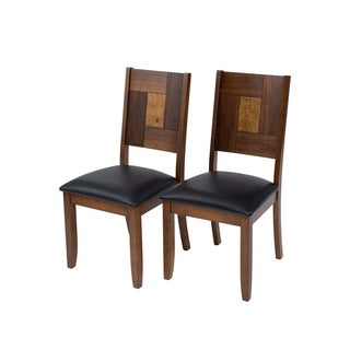 Solid Hardwood Squareback Brown Dining Chair (Set of 2)