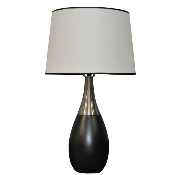 Black/ Silver Bowling Pin Lamps (Set of 2)