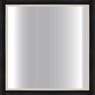 Black Framed Square Mirror
